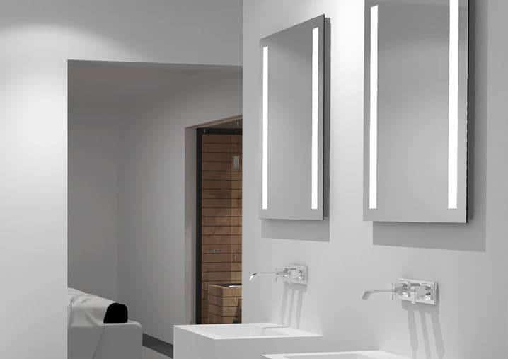 badspiegel 50cm breite  talos light  lichtspiegelshop