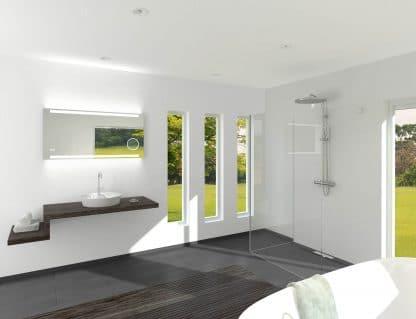 TALOS KING LED Lichtspiegel im weißen Badezimmer