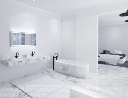 TALOS KING LED Lichtspiegel im Marmor Badezimmer