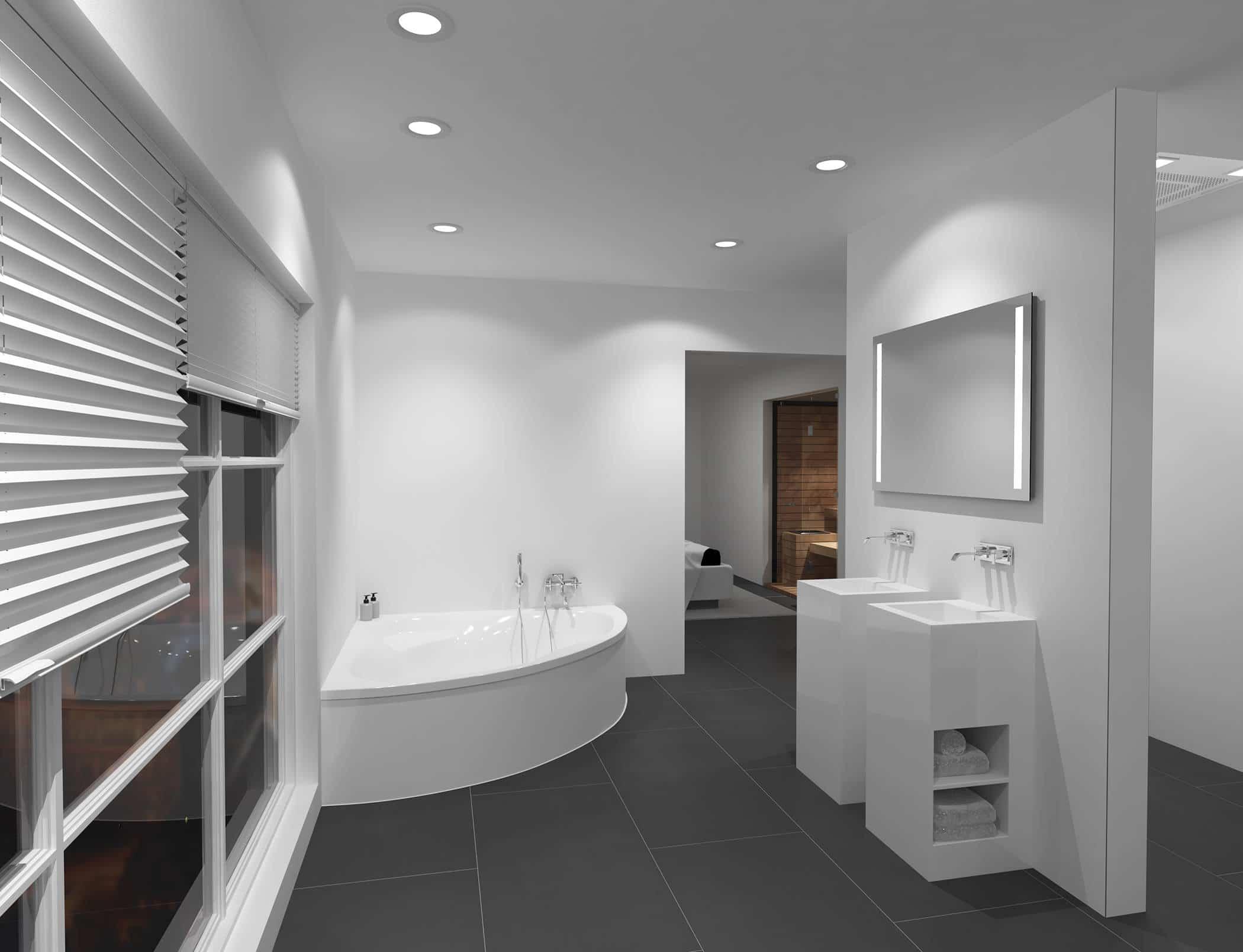 Badspiegel mit Beleuchtung links & rechts - TALOS LIGHT ...