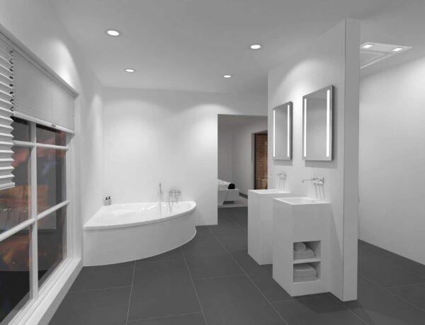 TALOS LIGHT LED Badspiegel über zwei Waschbecken