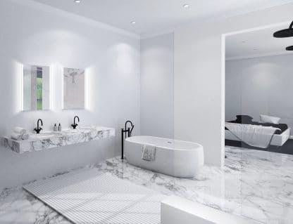 TALOS LOFT Badezimmerspiegel LED 50x70 zwei Waschbecken