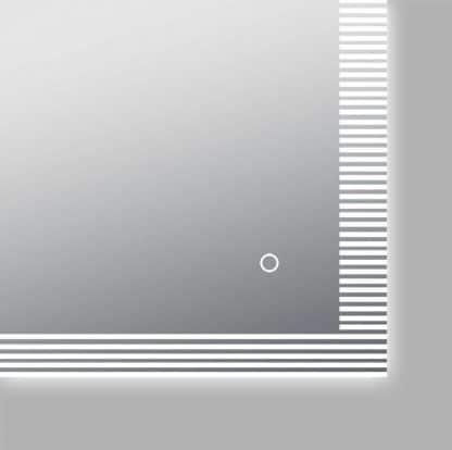 LED Spiegel Bad TALOS TRACE Sensor An Aus Taste Detailansicht