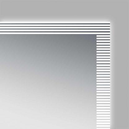 LED Spiegel Bad TALOS TRACE unterbrochene Lichtumrandung Detailansicht