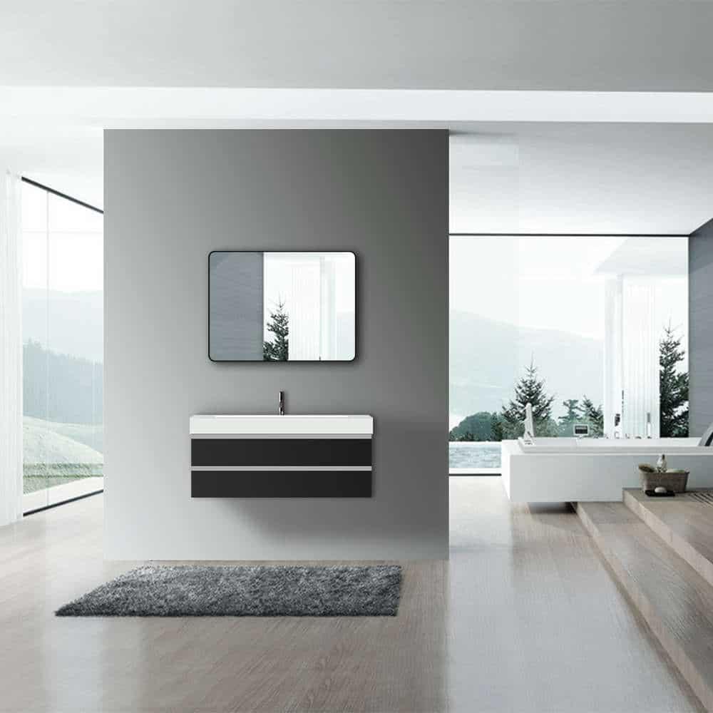 LED Badspiegel mit Beleuchtung TALOS 80x60 Wandspiegel Spiegel Bad Badezimmer