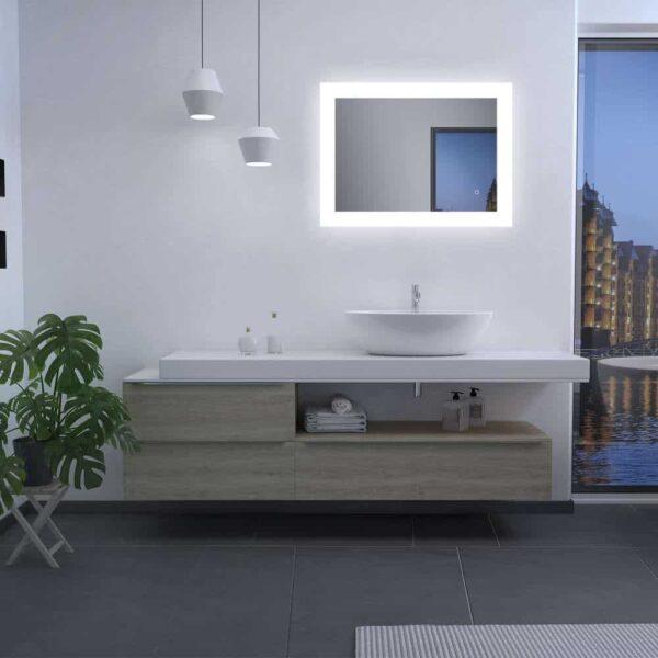 LED Badezimmerspiegel TALOS BRIGHT horizontal
