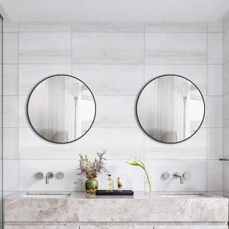 Runder Wandspiegel im Badezimmer TALOS BLACK CIRCLE