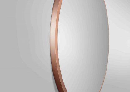 runder Spiegel TALOS NOBLE Rahmendetailansicht in Kupfer