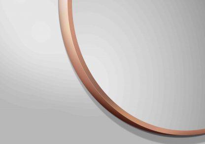 runder Spiegel TALOS NOBLE Rahmenansicht Farbe Kupfer