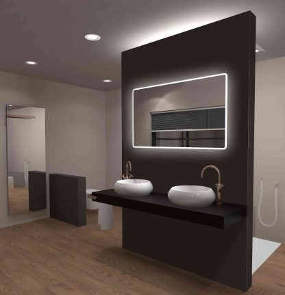 TALOS CASTLE Badspiegel mit LED Rundumbeleuchtung